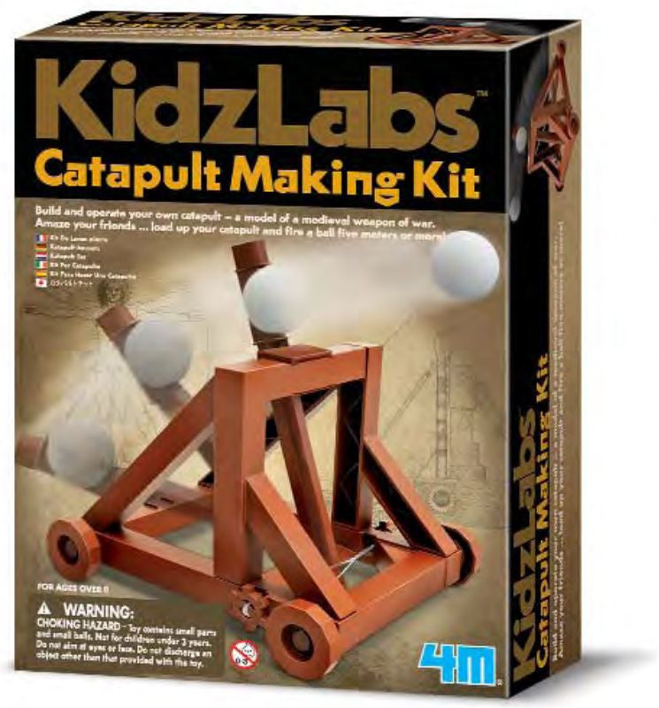 4M - P3385 | KidzLabs: Catapult Making Kit