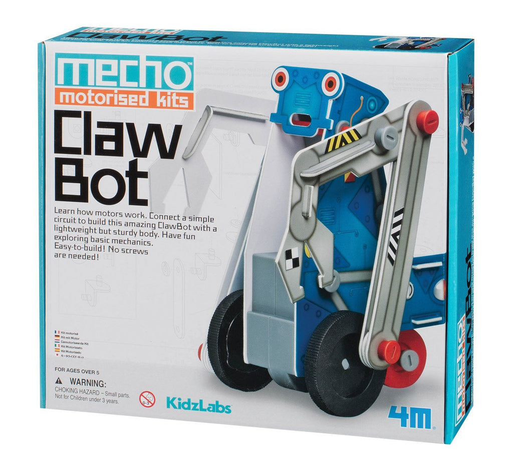 4M KidzLabs Mecho Motorized Kits Claw Bot - P3405