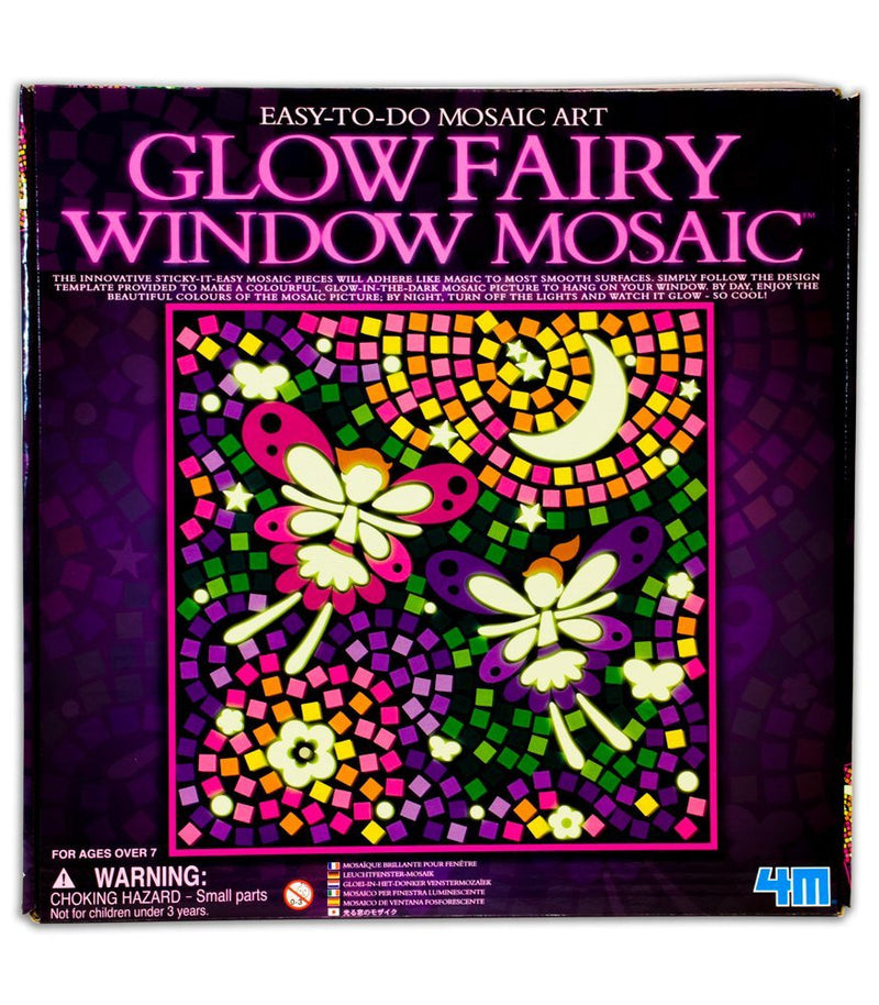 4M Easy-To-Do Mosaic Art Glow Fairy Window Mosaic - P4651