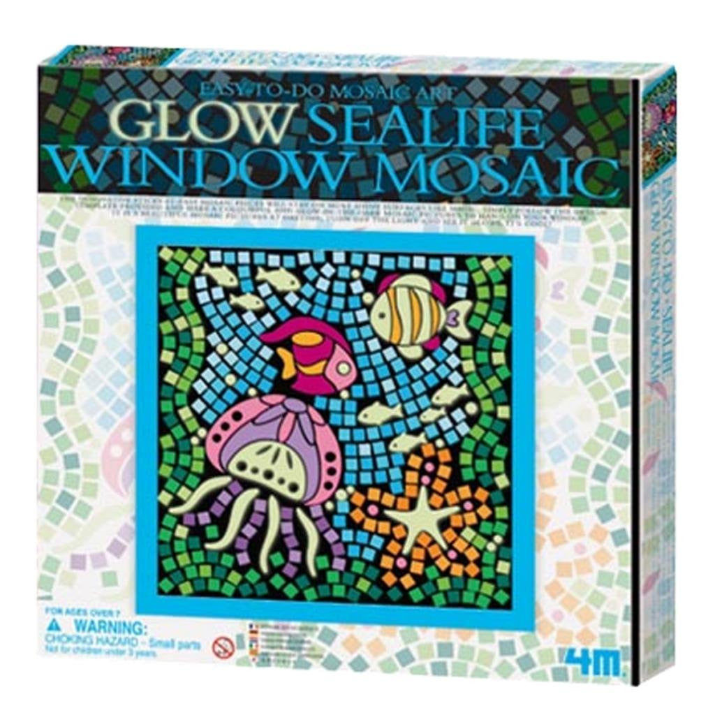 4M Easy-To-Do Mosaic Art Glow Sea Life Window Mosaic - P4651