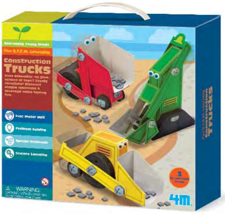 4M Junior Construction Trucks - P4673