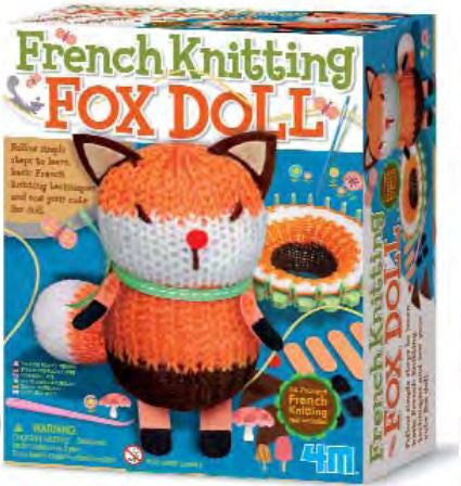 4M French Knitting Fox Doll - P4682