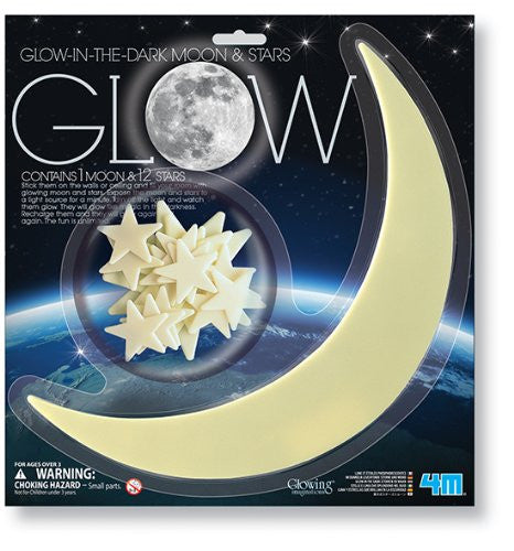 4M Glow-In-The-Dark Moon And Stars - P5215
