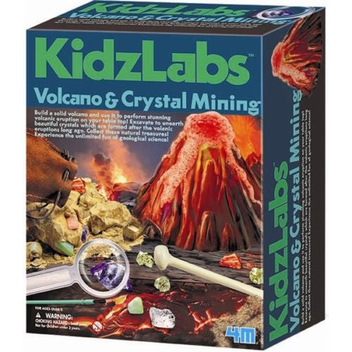 4M - P5532 | KidzLabs: Volcano And Crystal Mining Science Kit