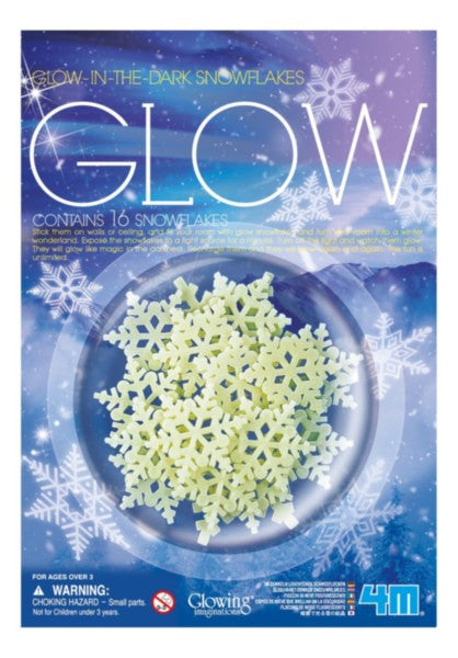 4M Glow-In-The-Dark Snowflakes - P5938