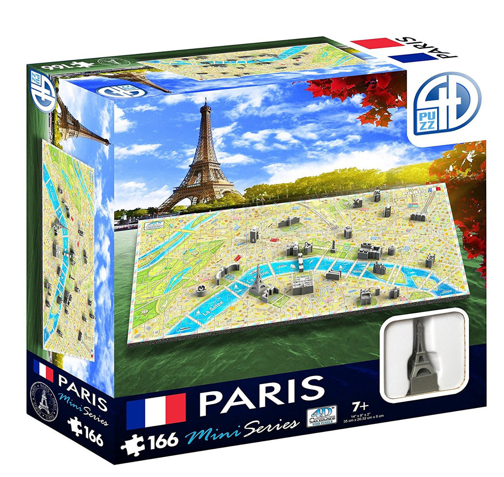 4D Cityscape Mini Paris Puzzle