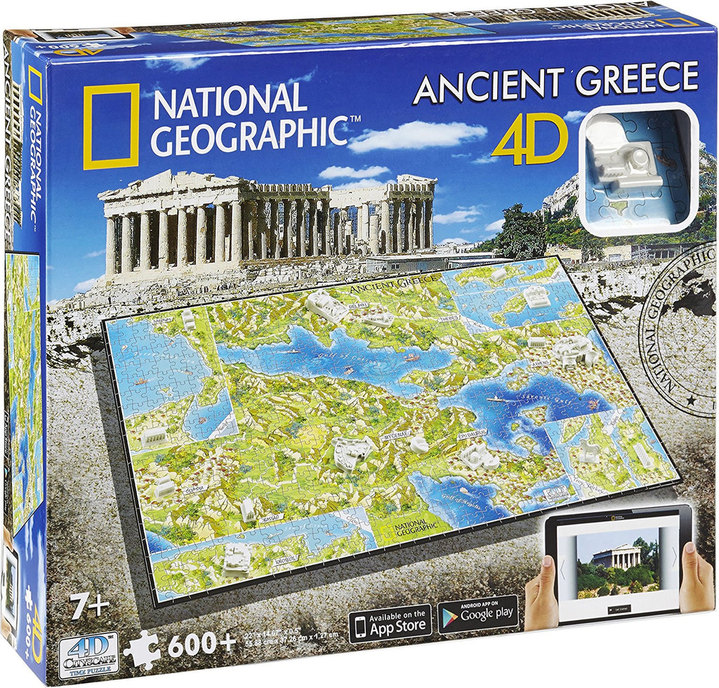 4D Cityscape - 61002 | National Geographic: Ancient Greece Time Puzzle