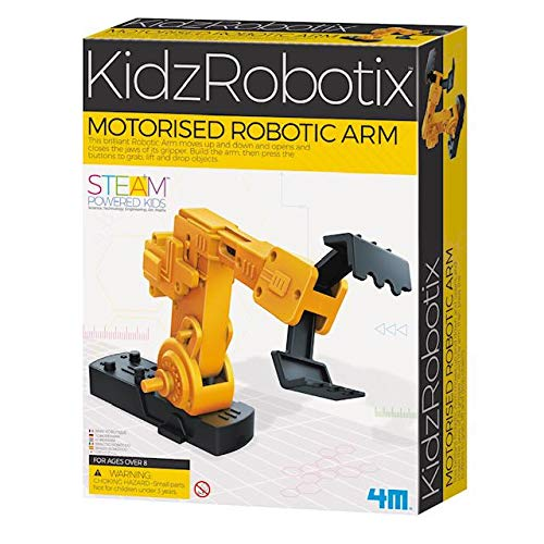 4M - 3413 | Kidz Robotics: Motorized Robotic Arm Science and Engineering Kit