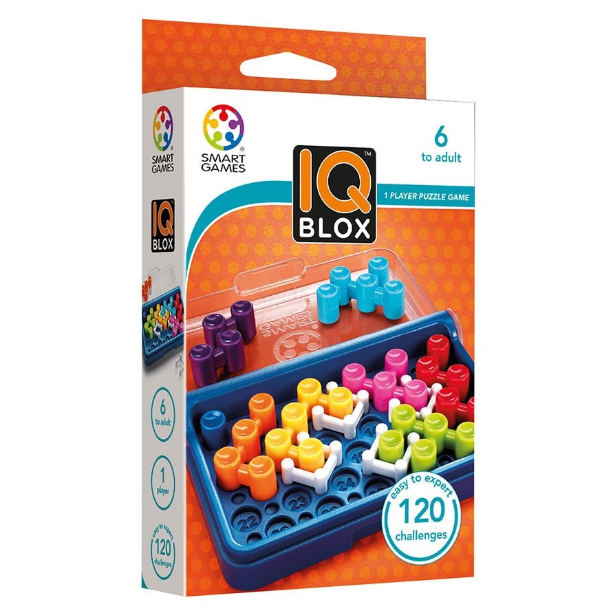 Smart Games - 518037 | IQ Blox - Educational Logic Game Puzzle - 120 Challenges