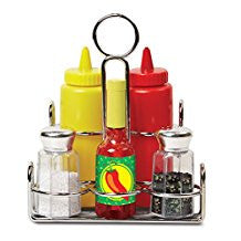 Melissa & Doug 19358 Condiments Play Set In Basket
