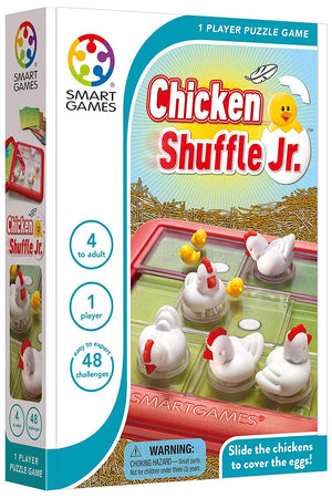 Smart Games - 522041 | Chicken Shuffle Jr. Educational Logic Game Puzzles