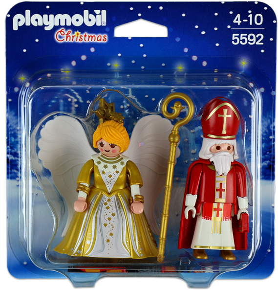 Playmobil - 5592 | Christmas: St. Nicholas & Christmas Angel Play Set