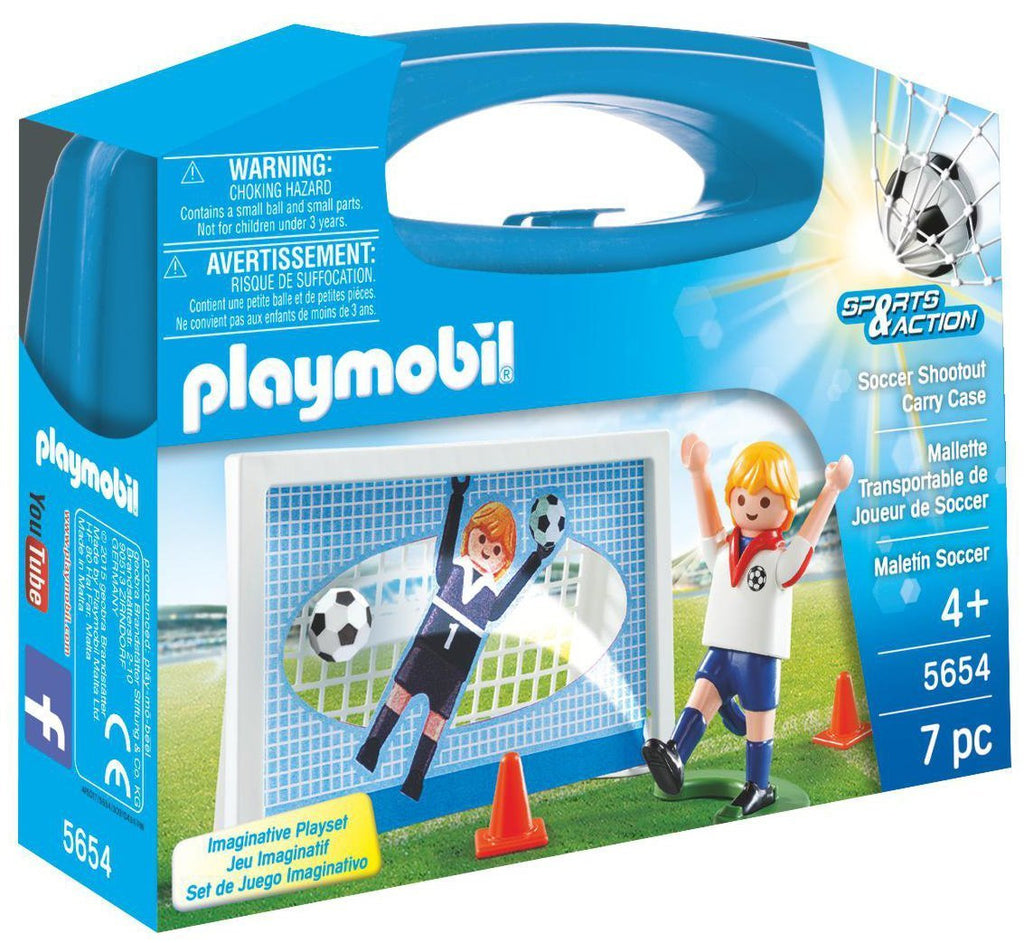 Playmobil - 5654 | Sports & Action: Soccer Shootout Carry Case