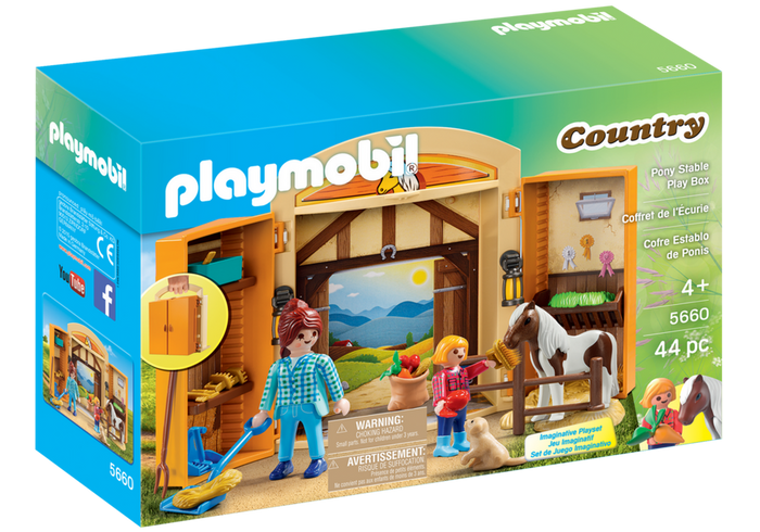 Playmobil - 5660 | Country: Pony Stable Play Box