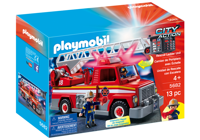 Playmobil - City Life: Fire Truck Rescue Ladder Unit