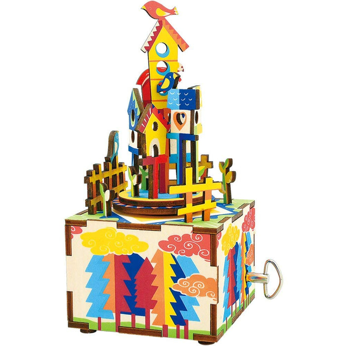 Robotime - AM307 | Music Box 3D Wooden Puzzle Castle in the Sky