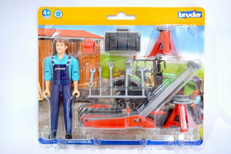 Bruder Bworld Man With Repair Shop Accessories - 62100