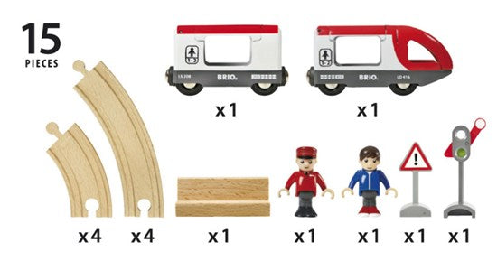 BRIO - 33511 | Travel Circle Train Wooden Set
