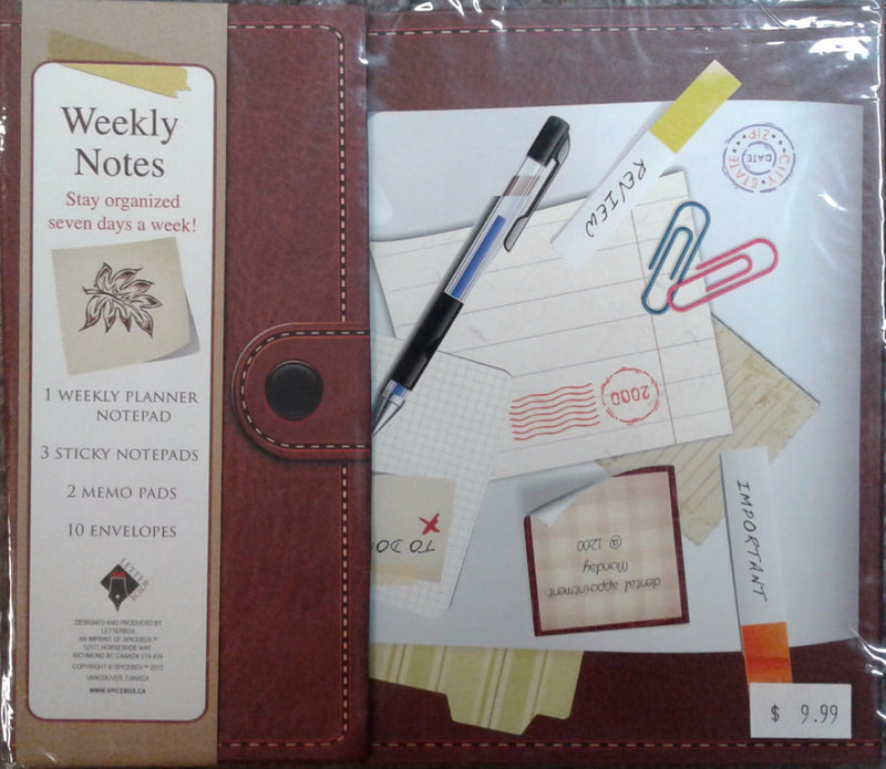 Spice Box Stationery Weekly Notes Leather - 03481