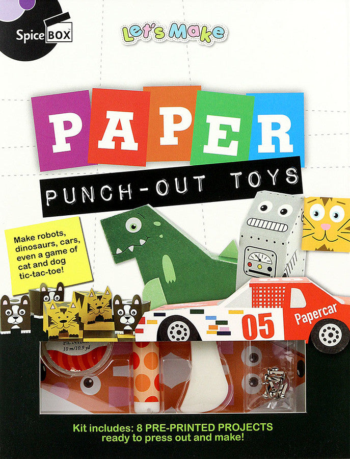 Spice Box Let's Make Paper Punch Out Toys - 22546