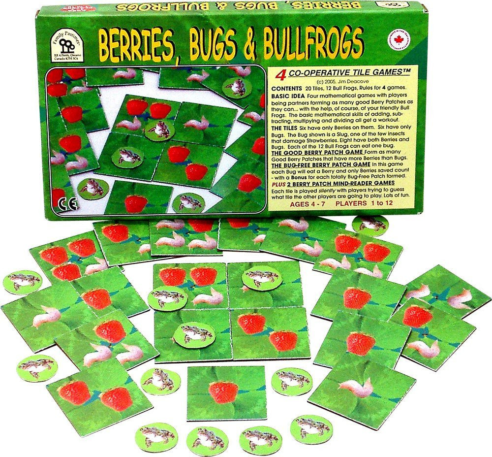 Family Pastimes Berries, Bugs & Bullfrogs - 4 Co-operative Tile Games