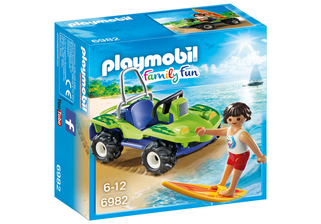 Playmobil - Family Fun: Surfer With Beach Quad