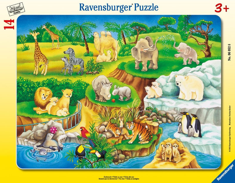 Ravensburger - My First Frame Puzzle: The Zoo 14 Piece Puzzle