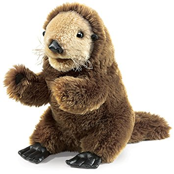 Folkmanis Puppets - 2960 | Baby Sea Otter Puppet