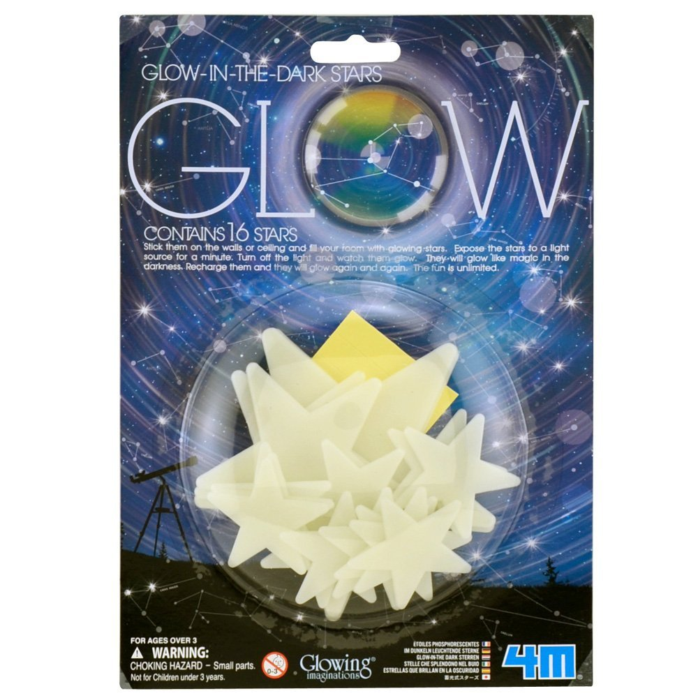 4M - P5210 | Glowing Imaginations: Glow-In-The-Dark Stars (16 Pieces)