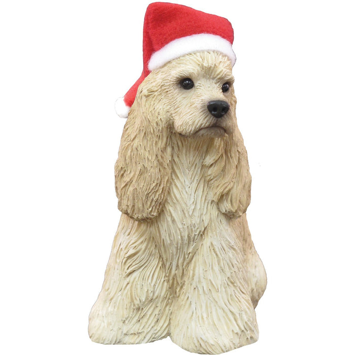 Sandicast - XS017105 | Buff Cocker Spaniel Sculpture Holiday Ornament