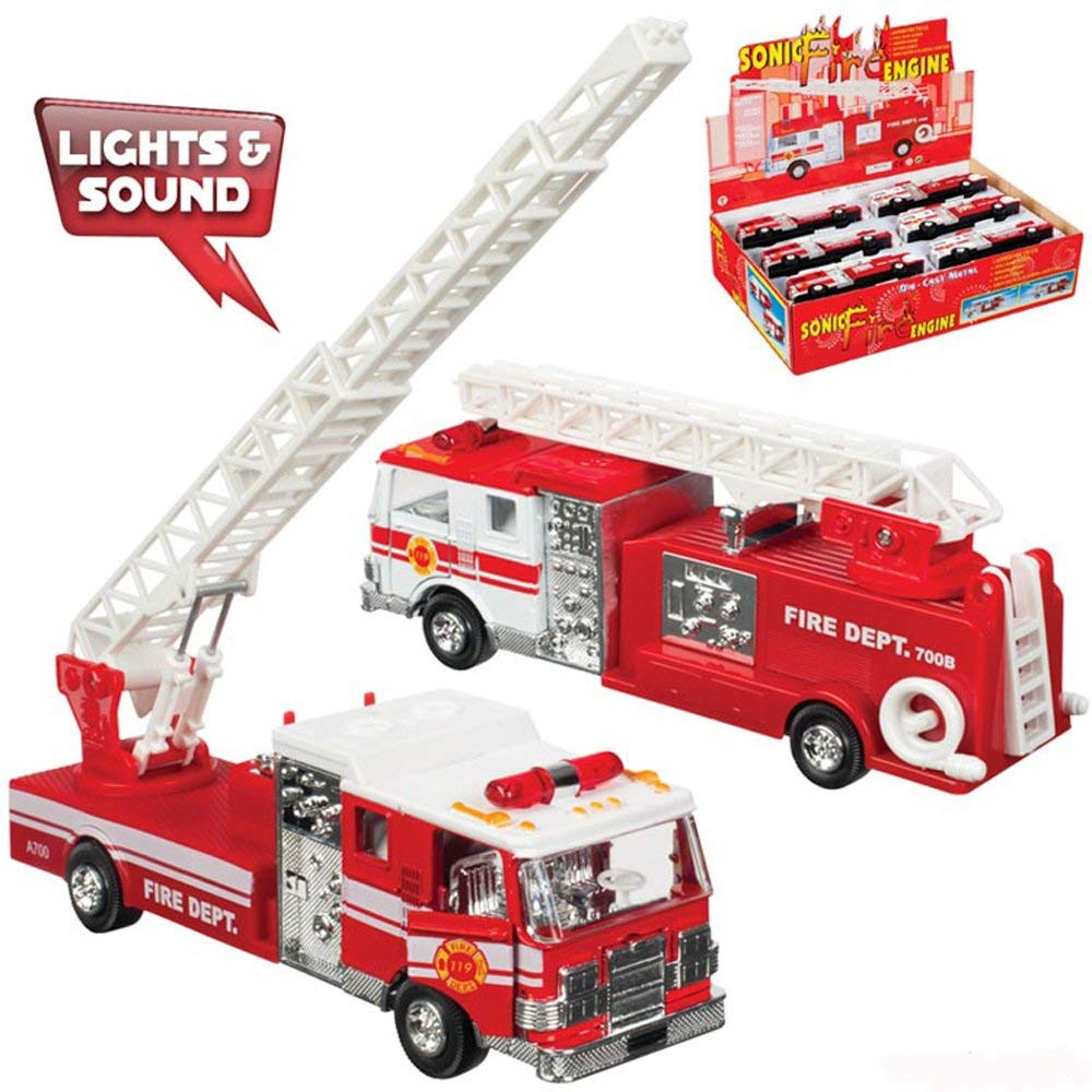 "Toysmith - 4855 | Fire Truck (5"") -  Die Cast Assorted Styles"