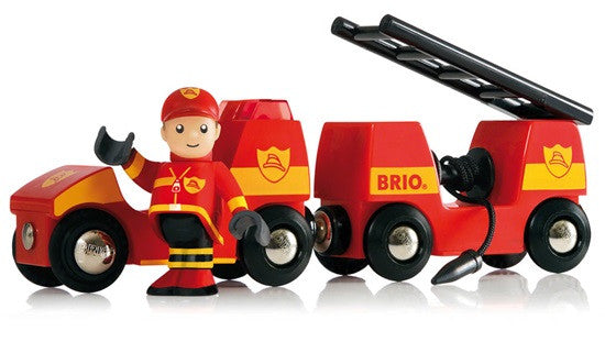 Brio Fire Engine And Man 3 Pieces - 33576