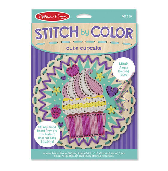 Melissa & Doug 8918 Stitch By Color - Cute Cupcake