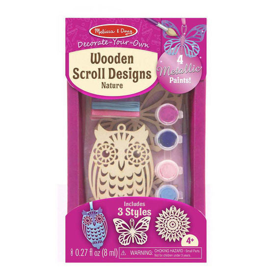 Melissa & Doug 8919 Decorate-Your-Own Wooden Scroll Designs - Nature