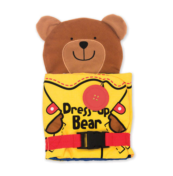 Melissa & Doug 9206 Basic Skills Soft Activity Book - Dress-Up Plush Bear