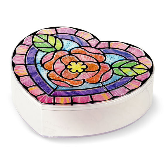 Melissa & Doug 9297 Stained Glass Made Easy - Heart Box