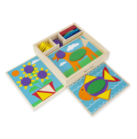 Melissa & Doug 0528 Beginner Pattern Blocks