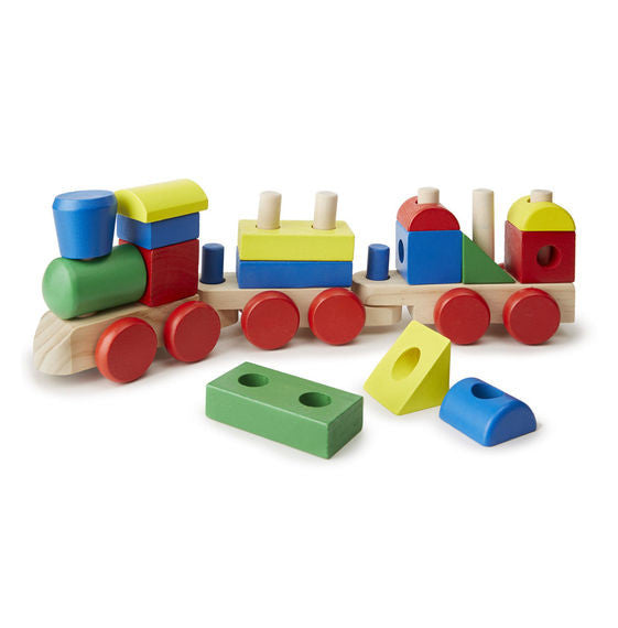 Melissa & Doug 0572 Wooden Stacking Train Toddler Toy