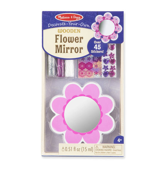 Melissa & Doug - Decorate-Your-Own: Wooden Flower Mirror
