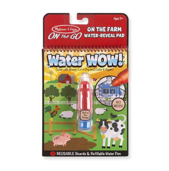 Melissa & Doug 9232 On The Go On The Farm Water-Reveal Pad Water Wow!