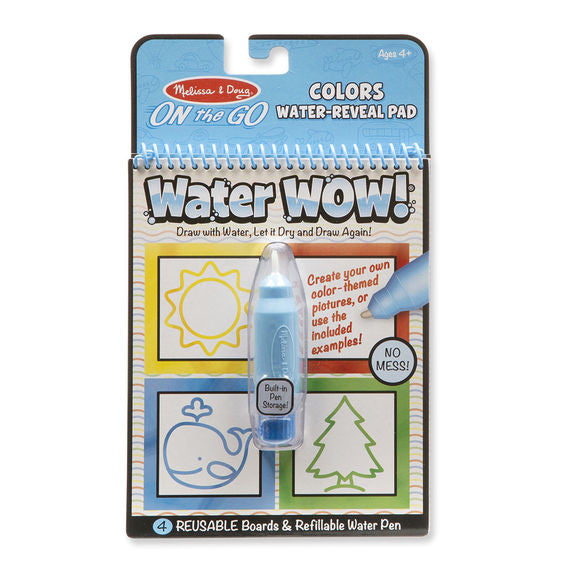 Melissa & Doug 9444 On The Go Colors & Shapes Water-Reveal Pad Water Wow!