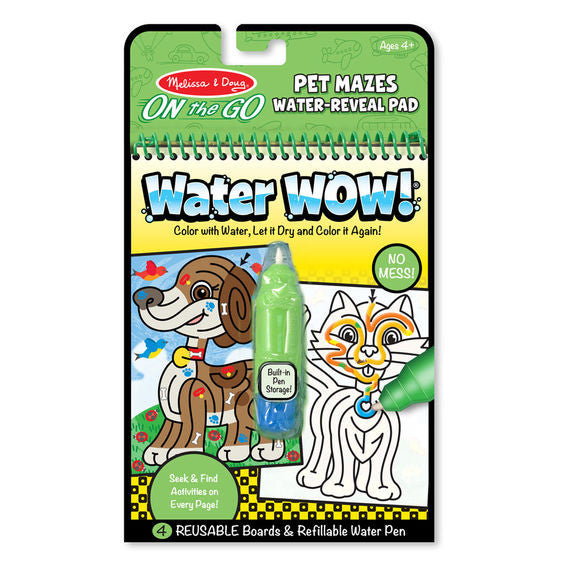 Melissa & Doug 9484 Water Wow! Pet Mazes Water-Reveal Pad - On The Go