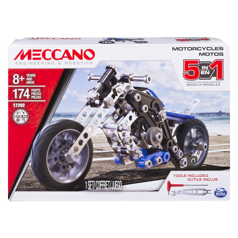 Meccano - 6036044 | Motorcycle 5 in 1 Model Set