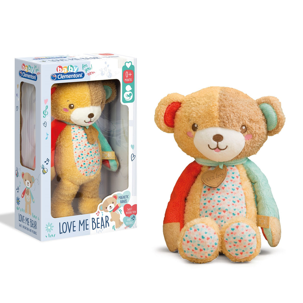 Clementoni - 172672 | Baby Clementoni: Love Me Bear (First Month Bear Activity Plush)