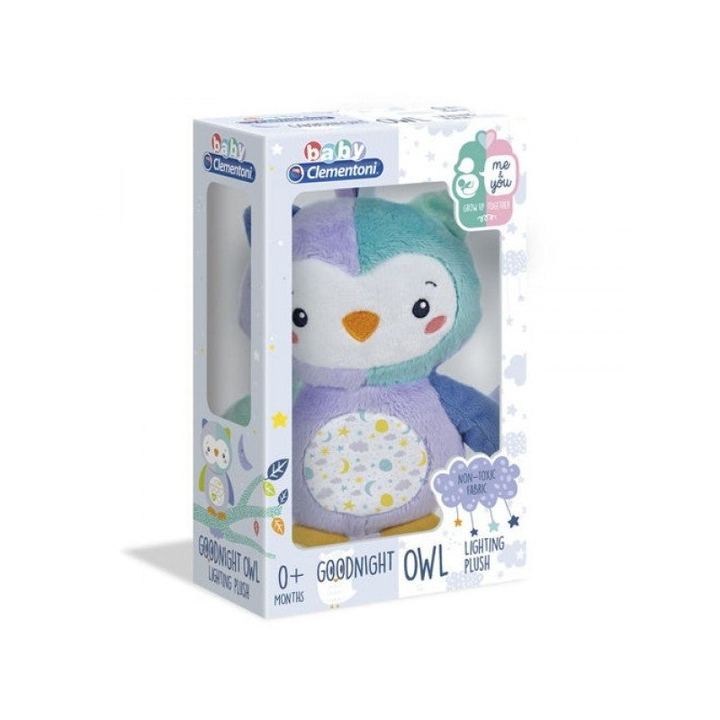 Clementoni - 172689 | Baby Clementoni: Goodnight Owl (First Month Owl Lighting Plush)