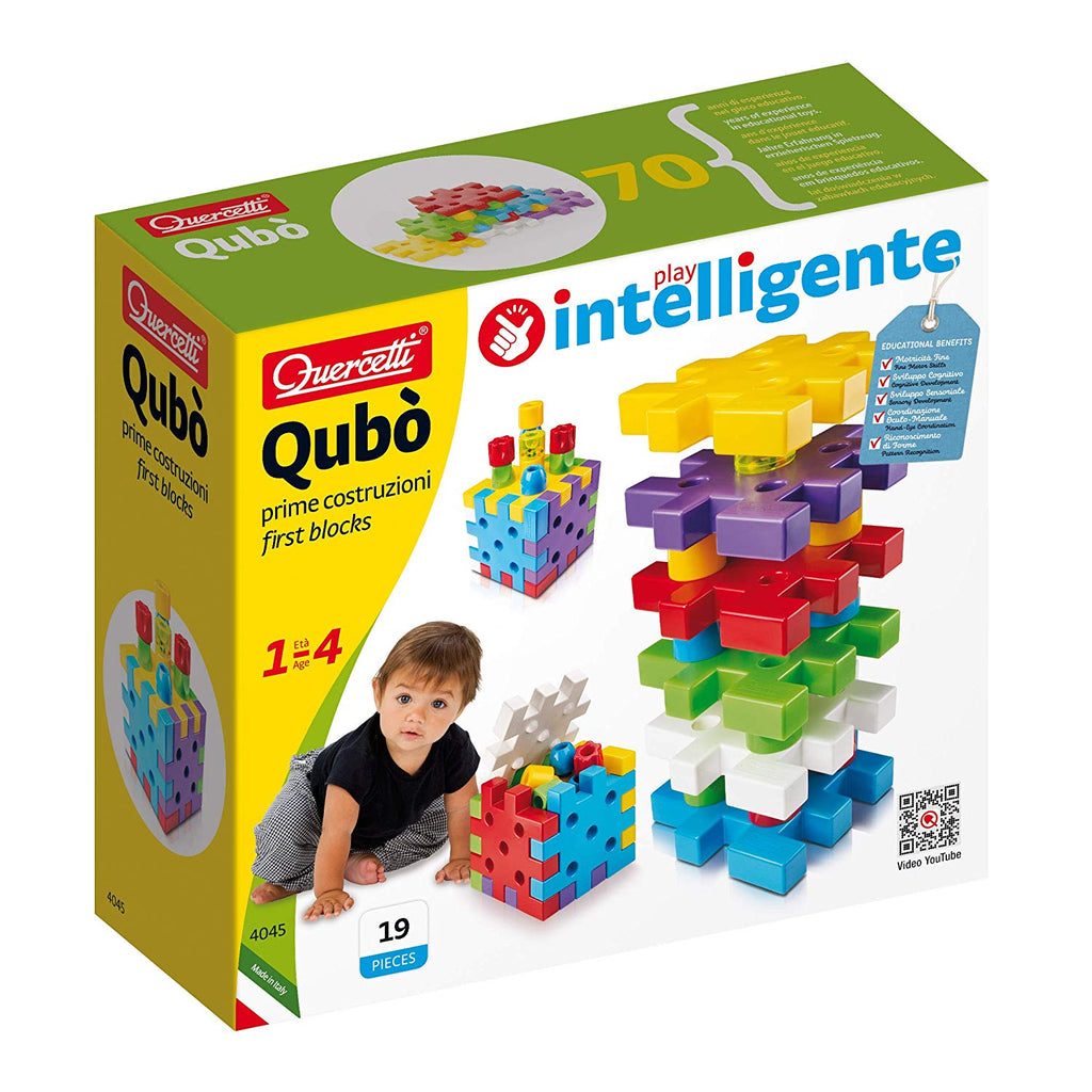 Quercetti - 0404 | Qubo: First Blocks Set 19 pieces