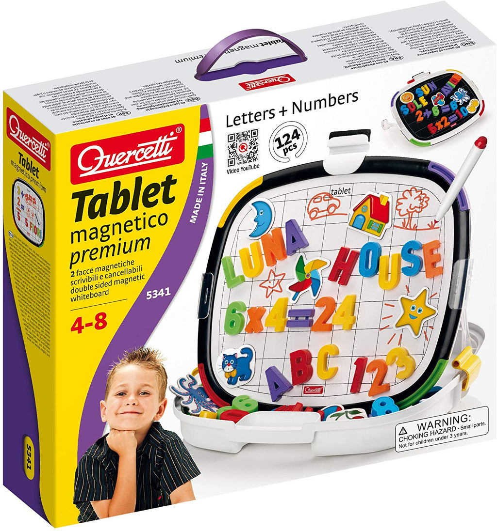 Quercetti - 053416 | Tablet Letters & Numbers (Magnetico Premium)