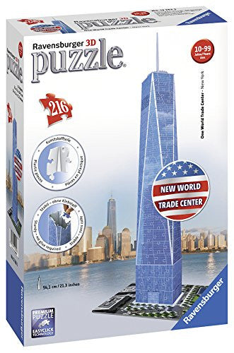 The New World Trade Center in Manhattan, New York City, NY. 3D Jigsaw Puzzle Made by Ravensburger.