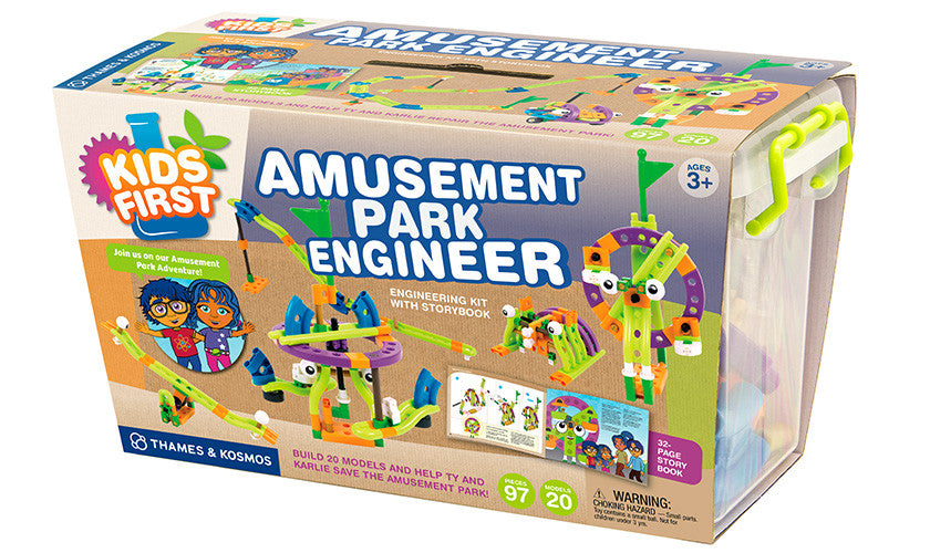 Thames & Kosmos - Kids First: Amusement Park Engineer Kit With Storybook