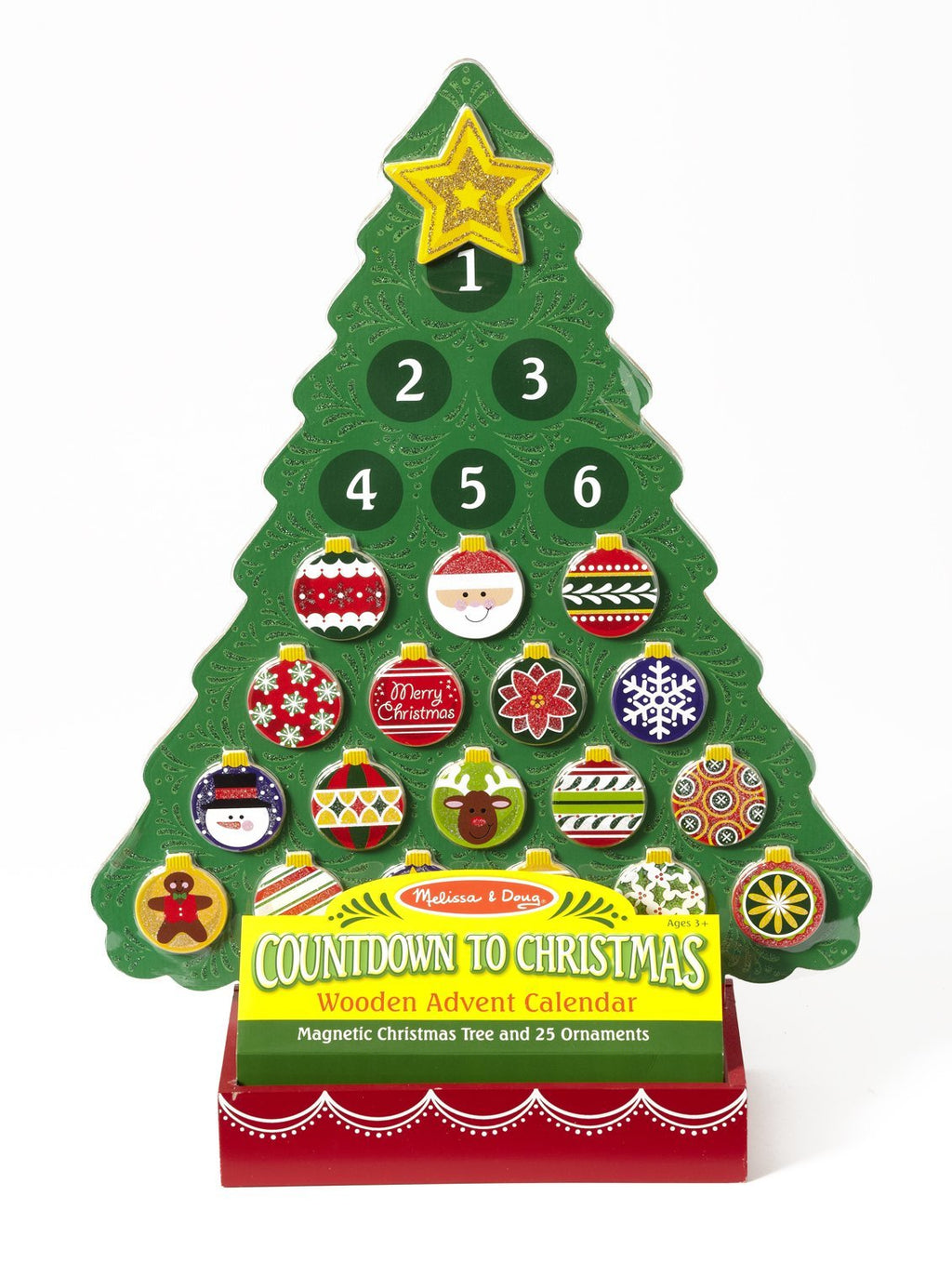 Melissa & Doug - Countdown To Christmas Wooden Advent Calendar